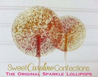 Autumn Wedding Favors, Lollipops, Candy, Wedding Favors, Party Favors, Candy Lollipops, Sweet Caroline Confections-Set of Six