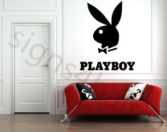 Playboy Logo Removable Wall Art Decor Decal Mural Vinyl Sticker