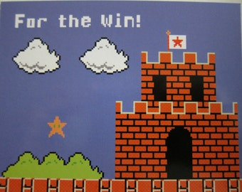 Mario - For the Win Postcard