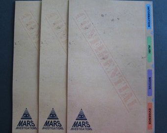Veronica Mars - Case Files Writing Sheets