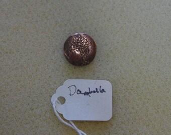 Copper or Bronze Lwa Veve Pendant Damballa Azaka Madame Solei