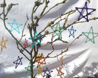 Hanging Glass Stars