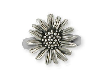 Solid Sterling Silver Daisy Flower Ring Jewelry  DY4-R