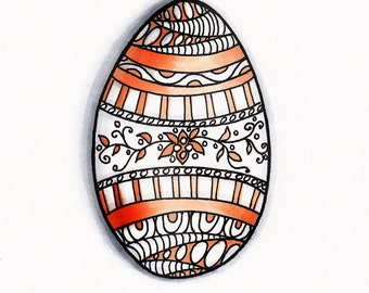 Egg Print Orange Design