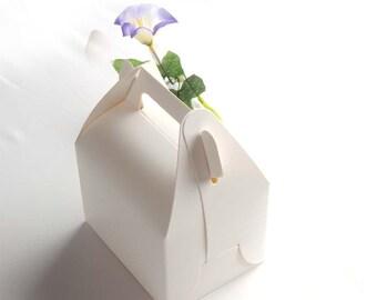 Plain white gift boxes in set of 10