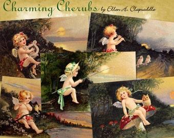 Charming Cherubs by Ellen Clapsaddle- Digital Download