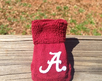 Alabama crimson tide baby booties ready to ship Roll tide.