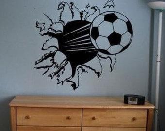 SOCCER BALL Vinyl Wall Decal Sticker