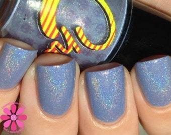 Maverick. Periwinkle linear holographic nail polish. (15 mL, .5 oz)
