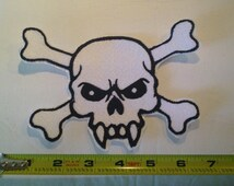 Embroidery Iron-on Vampire skull - Large