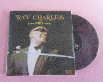 Record Album Ray Charles Doing His Thing - dollhouse miniature 1:12 scale