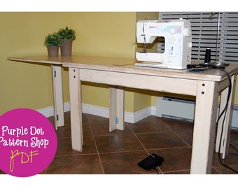 Drop Leaf Sewing Table (PDF Instructions)