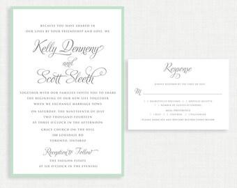 Printable wedding invitation- with RSVP Card- Simple Wedding Invitation- Invitation Template- Customizable Invitation