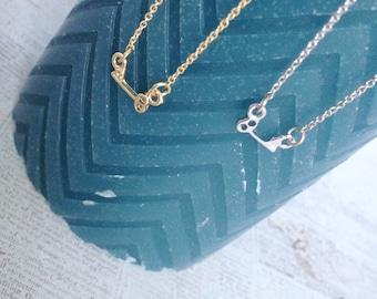 Silver Key Pendant Necklace