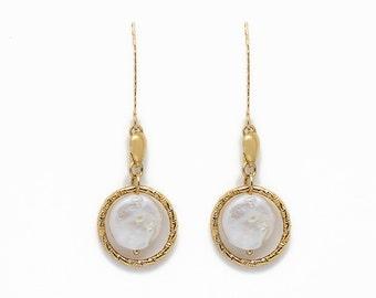 Pearl earrings - Goldfilled earrings - Long earrings