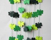 Irish wedding, Clover garland, clover banner, St Patrick's Day banner, Clover decor, Clover decoration. Irish decoration, Irish party decor