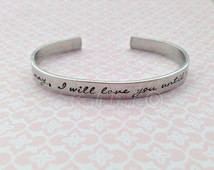 Come What May... Moulin Rouge Inspired Cuff, Hand Stamped, personlaised, movie inspired