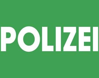 POLIZEI GERMAN GERMANY police sweatshirt sweat shirt