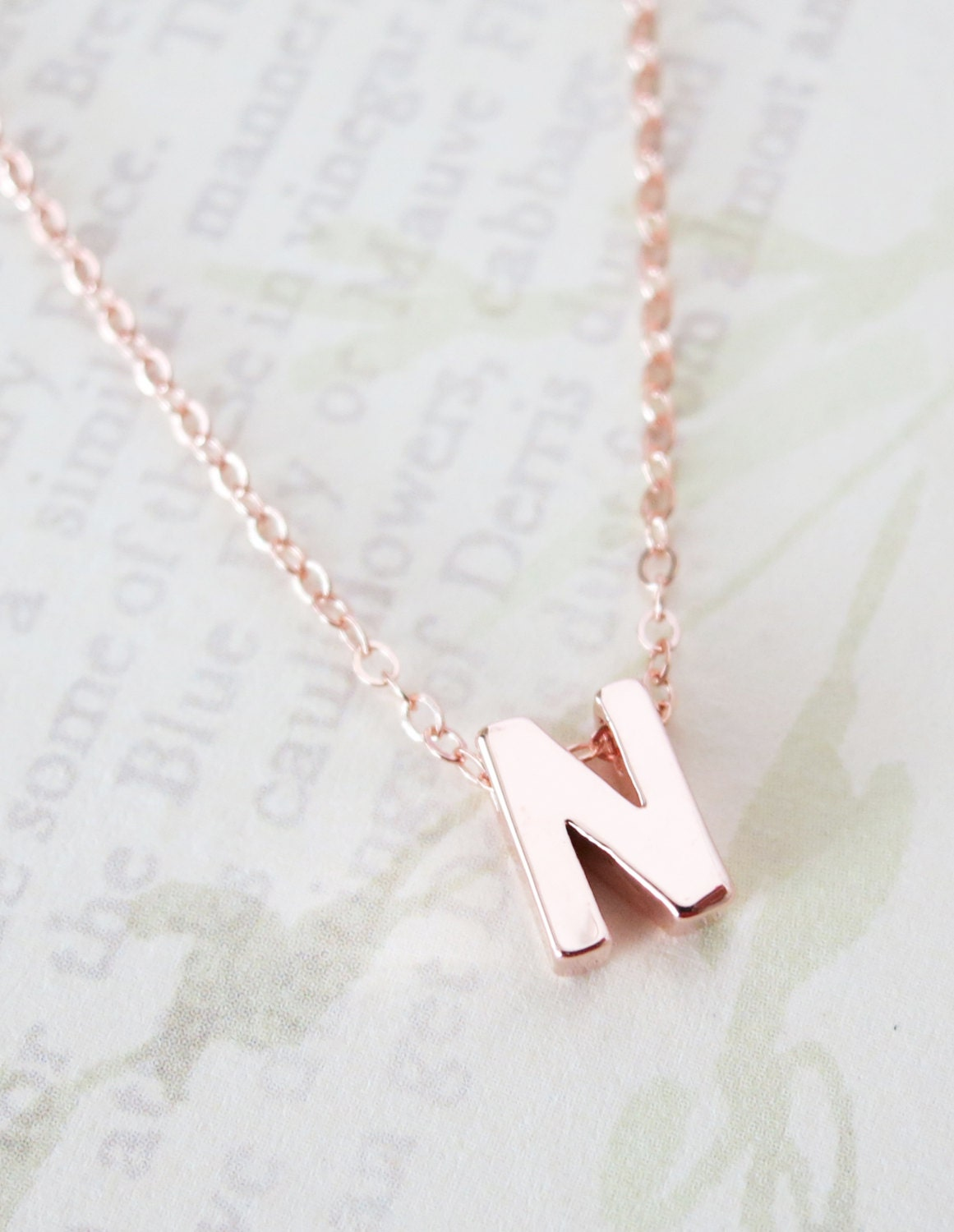 personalized gold letter necklace gold filled