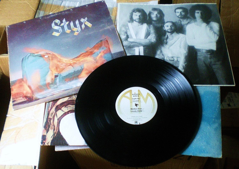 Styx Equinox Vintage Record 33 Rpm Vinyl Lp 1975 A Amp M