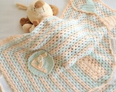 Custom Order for 'OLIVER'    -   O   -     Afghan,  Bamboo, Newborn, Baby Blanket, with  Colorful Flags-Two Pieces--OOAK