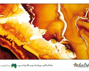 Fire Storm Abstract Earth Art Postcards 0042