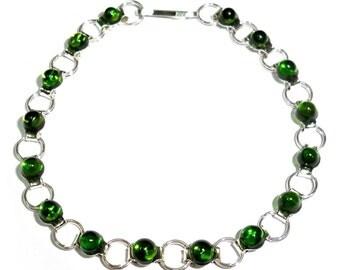 Chrome Diopside Bracelet Russia Yakutia
