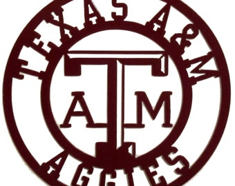 Texas A & M Sign, Metal, Aggies