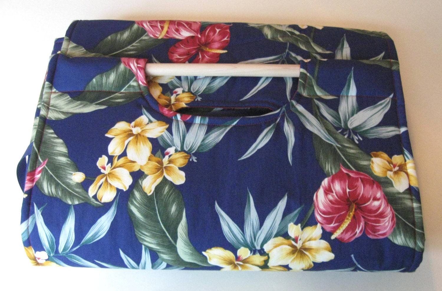 Best Potluck Tropical flower insulated casserole carrier with
