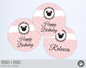 Vintage Minnie Mouse Printable 4inch circles