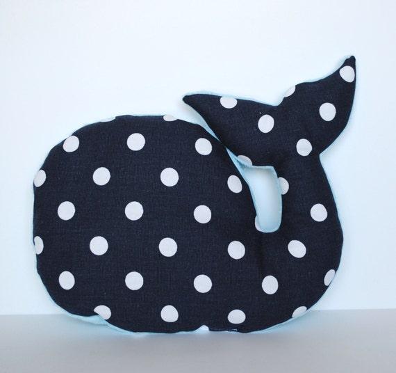 How To Make Stuffed Animal Pillows : One polka dot whale nursery pillow cover stuffed animal