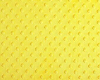 Canary Yellow Dimple Dot  Minky Fabric - 1 yard
