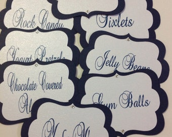 Custom Candy Buffet Tags, Candy Jar Tags, Food Tags, Candy Labels