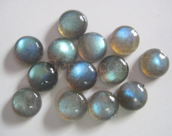 Lot of  Stunning 25 Pieces Labradorite Cabochon 4 mm Round  Loose Gemstone Calibrated