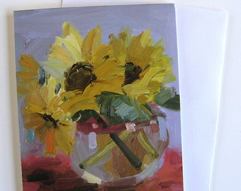 Sunflowers Greeting Cards, Set of 8, Size A2