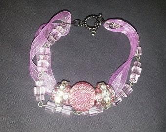 Lace & Crystal Bracelet