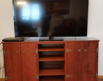 Recycled Barn Wood Entertainment Center