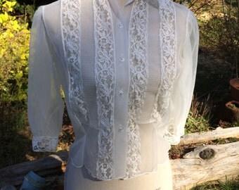Vintage 60's sheer blouse