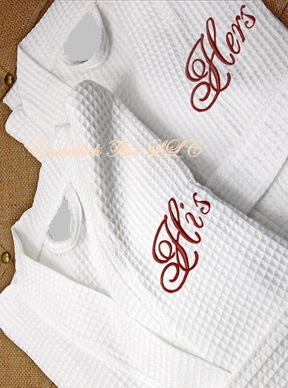 mr mrs his hers personalized monogrammed robes by embellishthisllc. Black Bedroom Furniture Sets. Home Design Ideas