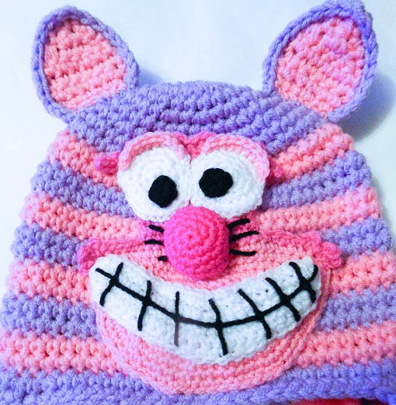 Crochet Pattern Cheshire Cat Hat Animal Hat Character Hat ...