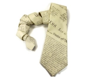 Declaration of Independence tie, American tie, Republican tie, political tie, historical tie, teacher tie