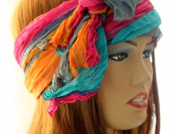 Boho, bohemian,Pure Silk scarf, silk shawl, boho accessories, women accessories, gift idea, scarves, silk, turbans, headbands, hair care