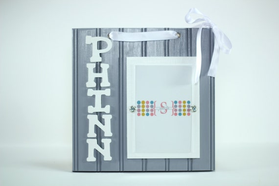 8x10 Hanging Picture Frame Personalized Name Initials by