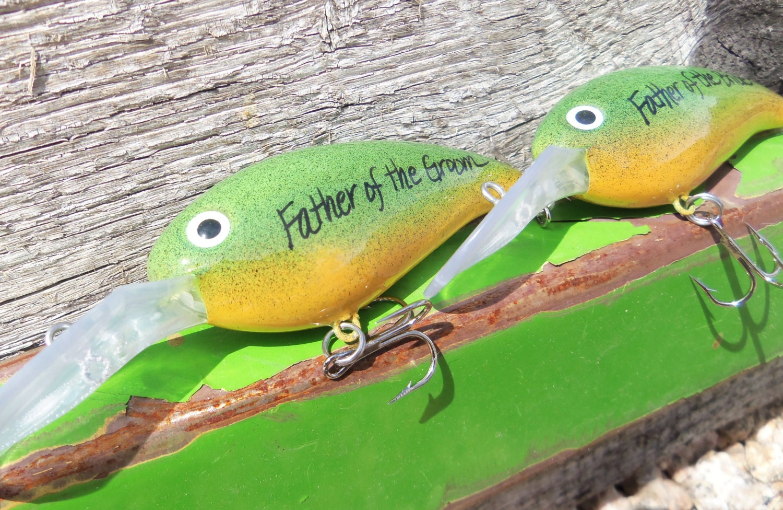 Personalized fishing lures wedding groomsmen gifts father of for Personalized fishing lure