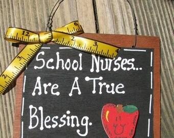 Teacher Gift  Inventory Number 40 School Nurses True Blessing Wood Slate