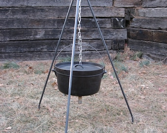 King CAMP H.Y.D.O.H. - Fire Pit Tripod - Hang your Dutch Oven here - Cooking Utensils -Professional Grade