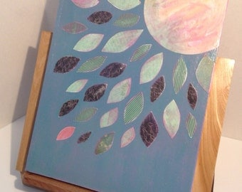 Restful Moonlight mixed media original painting by SunChickie Arts