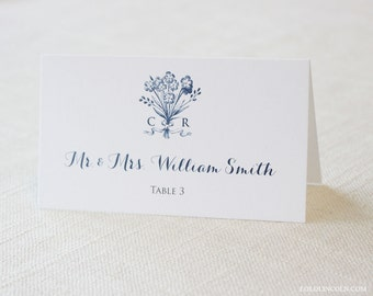 Bouquet Monogram Place Cards DEPOSIT to get started