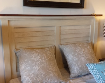 Head board /  Queen Size Bed / Painted Oak Headboard