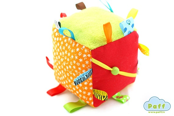 Baby Soft Fabric Activity Cube Rattle